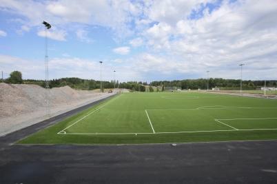 9 juli 2018 - Nya konstgräsplanen vid Hagavallen var klar för invigning.