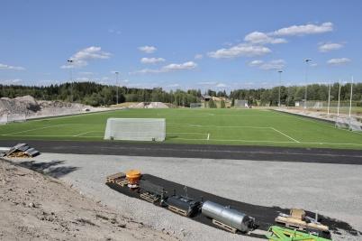 26 juli 2018 - Konstgräsplanen på Hagavallen var klar för invigning.