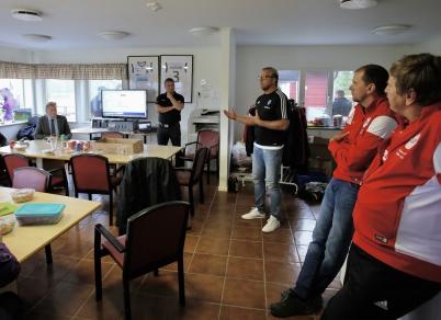 18 augusti 2018 - Inne i TIF:s klubbstuga informerades det om projektet med konstgräsplanen och TIF fick beröm från Värmlands Fotbollsförbund.