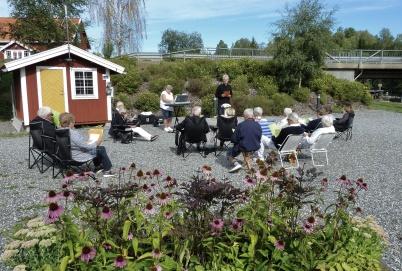 19 augusti 2018 - Och så var det friluftsgudstjänst i Kanalparken.