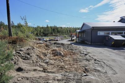 21 augusti 2018 - Vid Kölen sportcenter byggde man anläggningsväg mot Högås vindkraftspark.