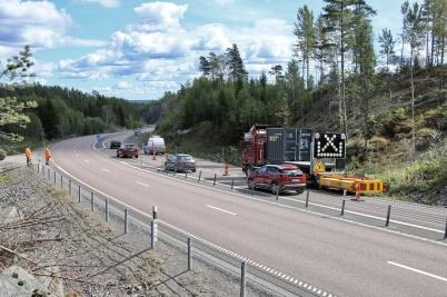 21 augusti 2018 - Intill E18 vid gränsen började man fälla skog inför kommande byggnation av ny tullstation.