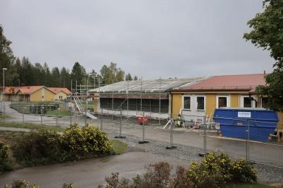 6 september 2018 - Vid skolan byggde man ut de administrativa lokalerna för att ge plats för bl a skolsköterskans mottagning.
