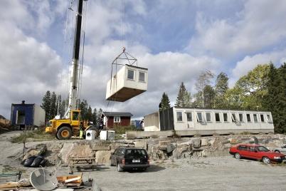 14 september 2018 - Vid Turistgården byggde man ny boendeavdelning.