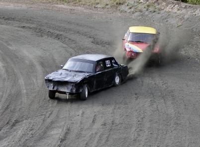 29 september 2018 - På Nordmarkens motorstadion vid Länsmansbråten körde man Folkrace-tävlingar.