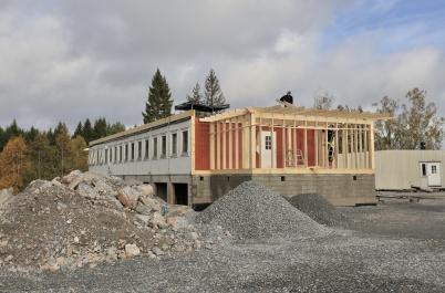 8 oktober 2018 - Arbetet med nya boendeavdelningen vid Turistgården fortskred.