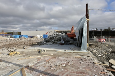 10 oktober 2018 - ÖoB huset var i det närmaste utplånat.