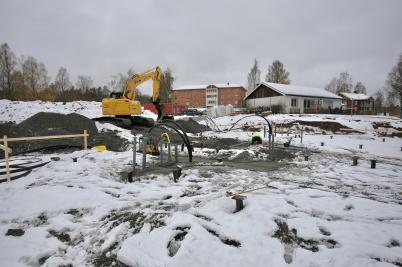 30 oktober 2018 - På Solängen fortsatte markarbetet.