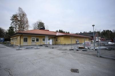 5 november 2018 - Arbetet med att bygga nya mellanstadieskolan gick framåt.