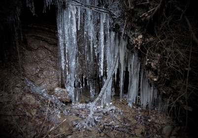 25 november 2018 - Trollfallet började frysa till is.