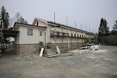28 november 2018 - Arbetet med nya boendeavdelningen vid Tursitgården gick framåt.