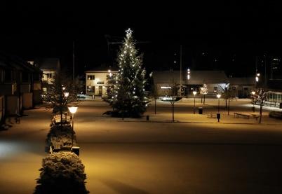 7 december 2018 - Det kom snö som gav julstämning.