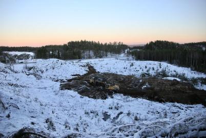 11 december 2018 - Så startade mark-arbetet på området där nya tullstationen skall byggas.