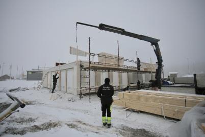 19 december 2018 - Vid gränsen byggde LOGENT nytt kontor.