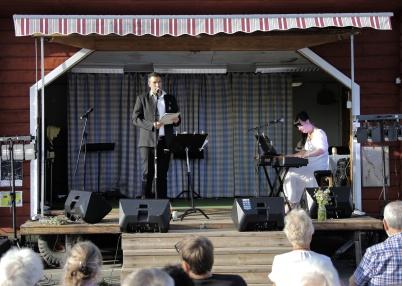 8 juli 2018 - Töcksmarksveckan 40-år - Petter Simonsen och Mathilda Röjdemo bjöd på en mäktig avslutningskonsert.
