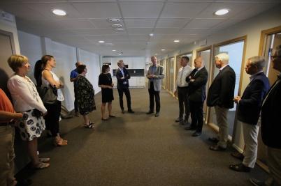 Flexit har byggt en ny fin kontors-byggnad med 28 arbetsplatser.