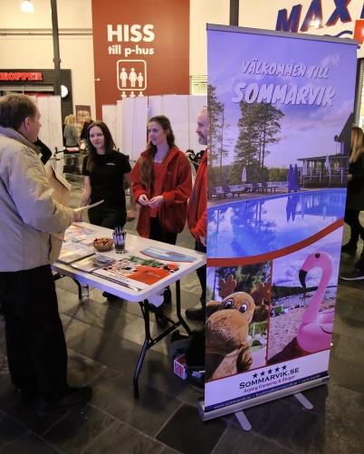 Sommarviks Camping fanns på plats och informerade om boende och aktiviteter.