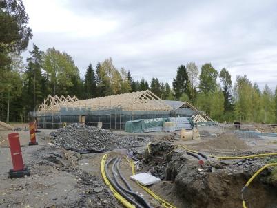 26 september 2010 - Bygget av nya förskolan har startat och fastigheten ansluts till Töcksfors fjärrvärmenät.