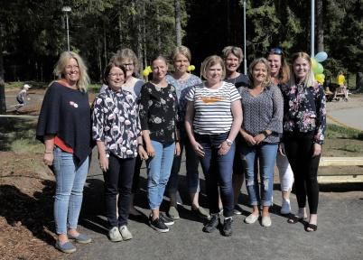17 maj 2018 - Personalen som tar hand om barnen på Förskolan Junibacken.