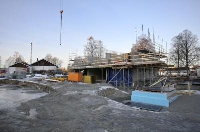 3 januari 2019 - På Solängen hade bygget av nya hyreshus tagit fart.