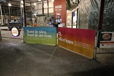 17 januari 2019 - I shoppingcentret ville man ge kunderna lite hopp, att ombyggnaden snart skulle vara klar.