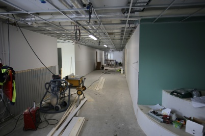 23 januari 2019 - Och bygget av mellan-stadieskolans nya lokaler gick framåt.