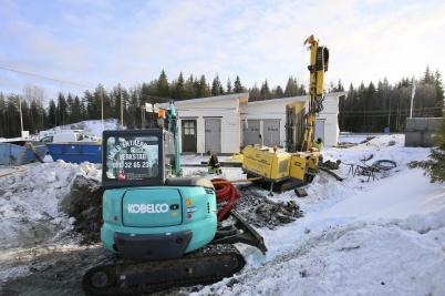 23 januari 2019 - Arbetet med Logent:s byggnad vid gränsen fortskred.