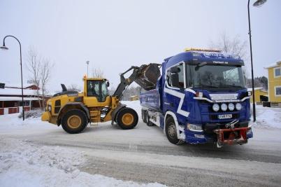 30 janauri 2019 - Töxfrakt skötte snöröjningen.