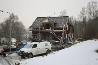 18 februari 2019 - Seftonhuset byggdes om till flerbostadshus.