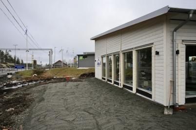 19 februari 2019 - Bygget av Logent:s nya speditionsbyggnad var nästan klart.