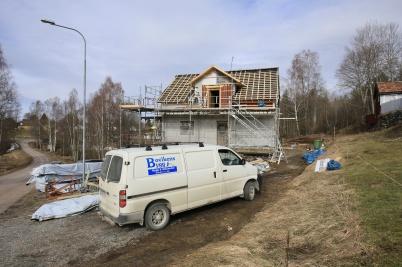 22 mars 2019 - Arbetet med att ombilda Seftonhuset till hyreshus fortskred.