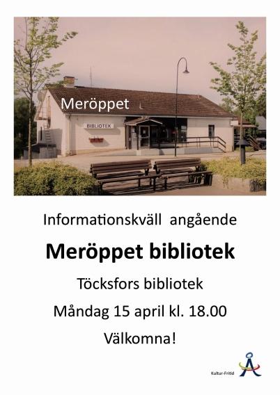15 april 2019 - Och så blev Biblioteket ett så kallat Meröppet bibliotek, med möjlighet att låna böcker när det passar dig, fram till kl. 22.00.