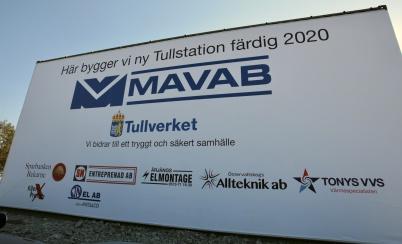 8 april 2019 - Vid gränsen byggde MAVAB ny tullstation.