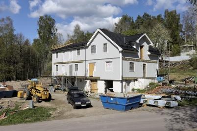 8 maj 2019 - Arbetet med ombyggnaden av Seftonhuset fortskred.