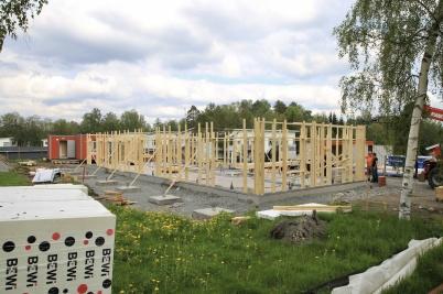 22 maj 2019 - Vid Slussen började nya hyreshuset växa.