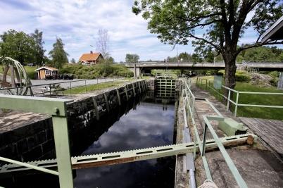 11 juni 2019 - Slussarna var klara att tas i bruk inför sommaren.