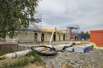 25 juni 2019 - Vid Slussen började man bygga på andra våningen.