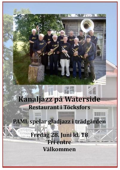 28 juni 2019 - Och så var det premiär för Kanaljazz i Waterside:s trädgård.