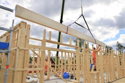 3 juli 2019 - Vid Slussen fortsatte arbetet med nya hyreshuset.