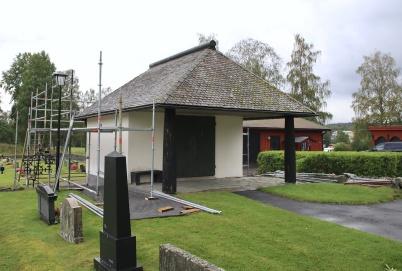 8 augusti 2019 - Renoveringen av kapellet vid Töcksmarks kyrka påbörjades.