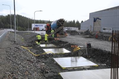 20 augusti 2019 - Och vid gränsen byggde man tullens nya kontrollplats.