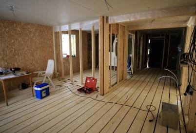 3 september 2019 - I Seftonhuset pågick arbetet med byggnation av lägenheter.
