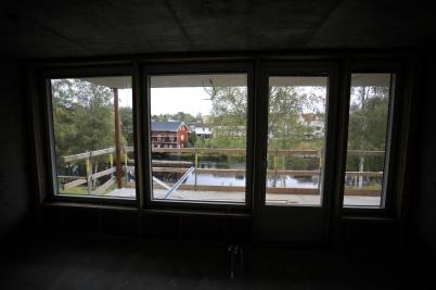 9 september 2019 - Och så kunde man se den fina utsikten från hyreshusen på Solängen.