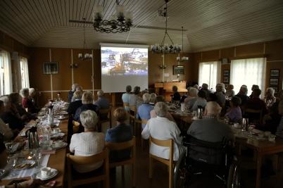 10 september 2019 - Jörgen Stomberg visade, i samband med 11-träffen i församlingshemmet, sin film från sista tiden på Sågen.