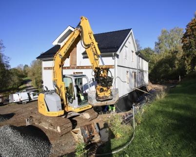 1 oktober 2019 - Arbetet med att göra Seftonhuset till hyreshus pågick.