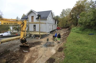 9 oktober 2019 - Vid Seftonhuset pågick markarbetet.
