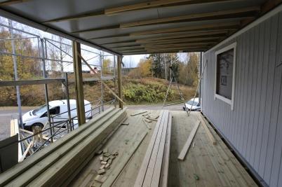 21 oktober 2019 - Seftonhusets stora balkonger färdigställdes.