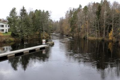23 oktober 2019 - Sjön Töck svämmade över efter allt regnande.