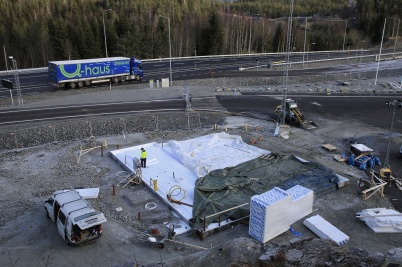 7 november 2019 - Abetet med KGH:s nya speditionsbyggnad vid tullstationen fortskred.