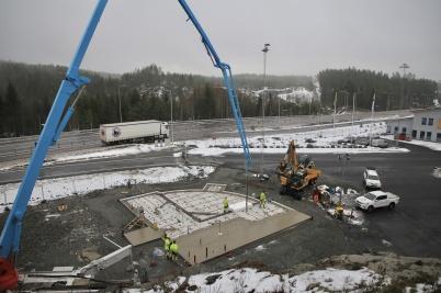 13 november 2019 - Vid gränsen fortsatte arbetet med KGH:s speditions-byggnad.